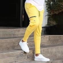 Branded Men's Clothing CasualJoggers Pants Streetwear Fashion Pockets Trousers Zipper Fitness Exercise Cotton Harem Men Pants