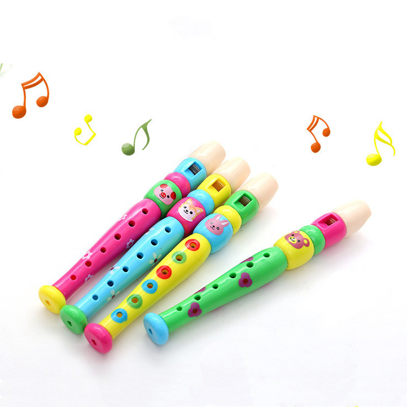 1pc Wooden Kid Short Flute Sound Musical Instrument Early Education Develop Type 6-Holes Recorder Woodwind Musical Instruments