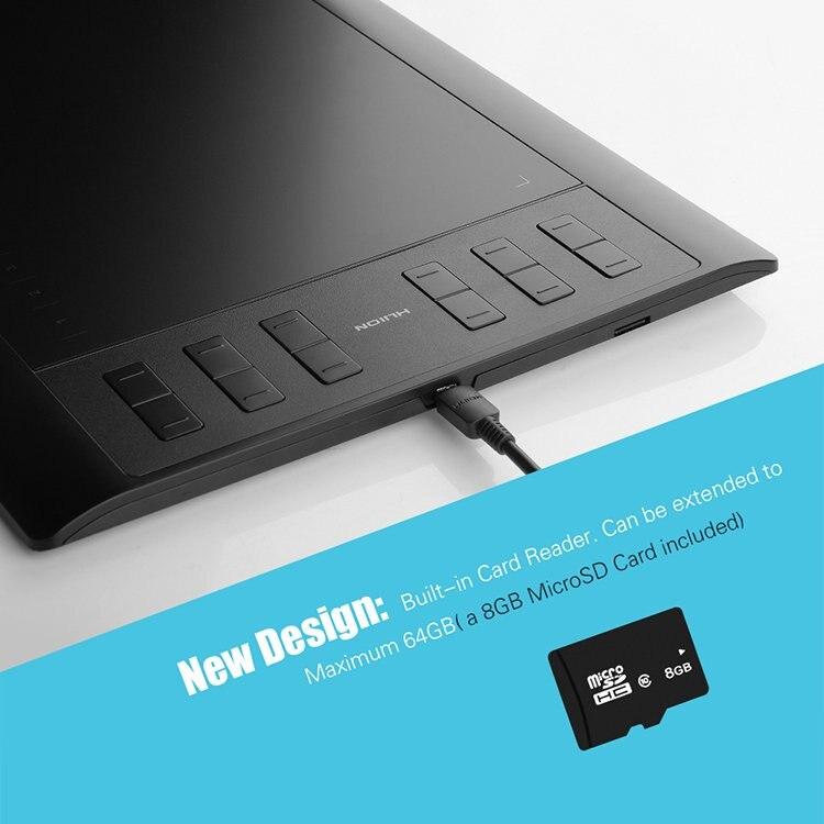 Huion 1060 Pro графический планшет 8192 уровней профессиональные 8 Гб USB цифровые планшеты для рисования анимация доска для рисования дизайн искусс...