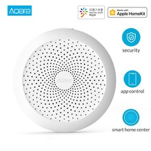 Aqara Hub Mi Gateway with RGB Led Night Light Smart Home Center Works with For Apple Homekit Aqara App for Mihome App