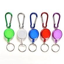 Clips Lanyard Badge-Holder Tag-Card Reels Key-Ring Pull-Badge-Reel-Id Retractable Name