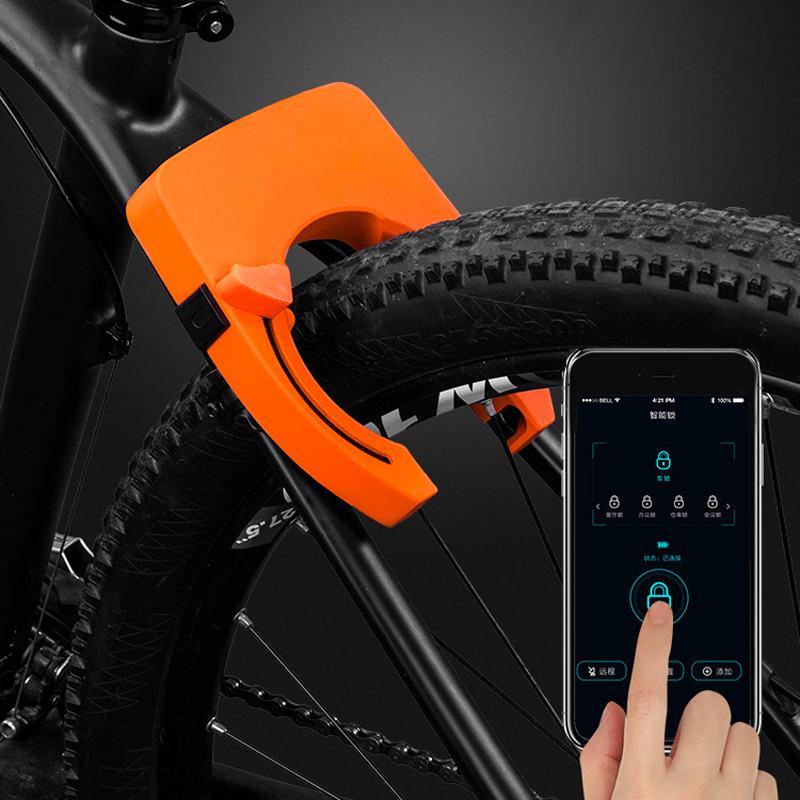 JINJIAN 806 Bluetooth スマート制御バイクロック馬蹄クランプ盗難防止除去防水 MTB 自転車ロック自転車アクセサリー - title=