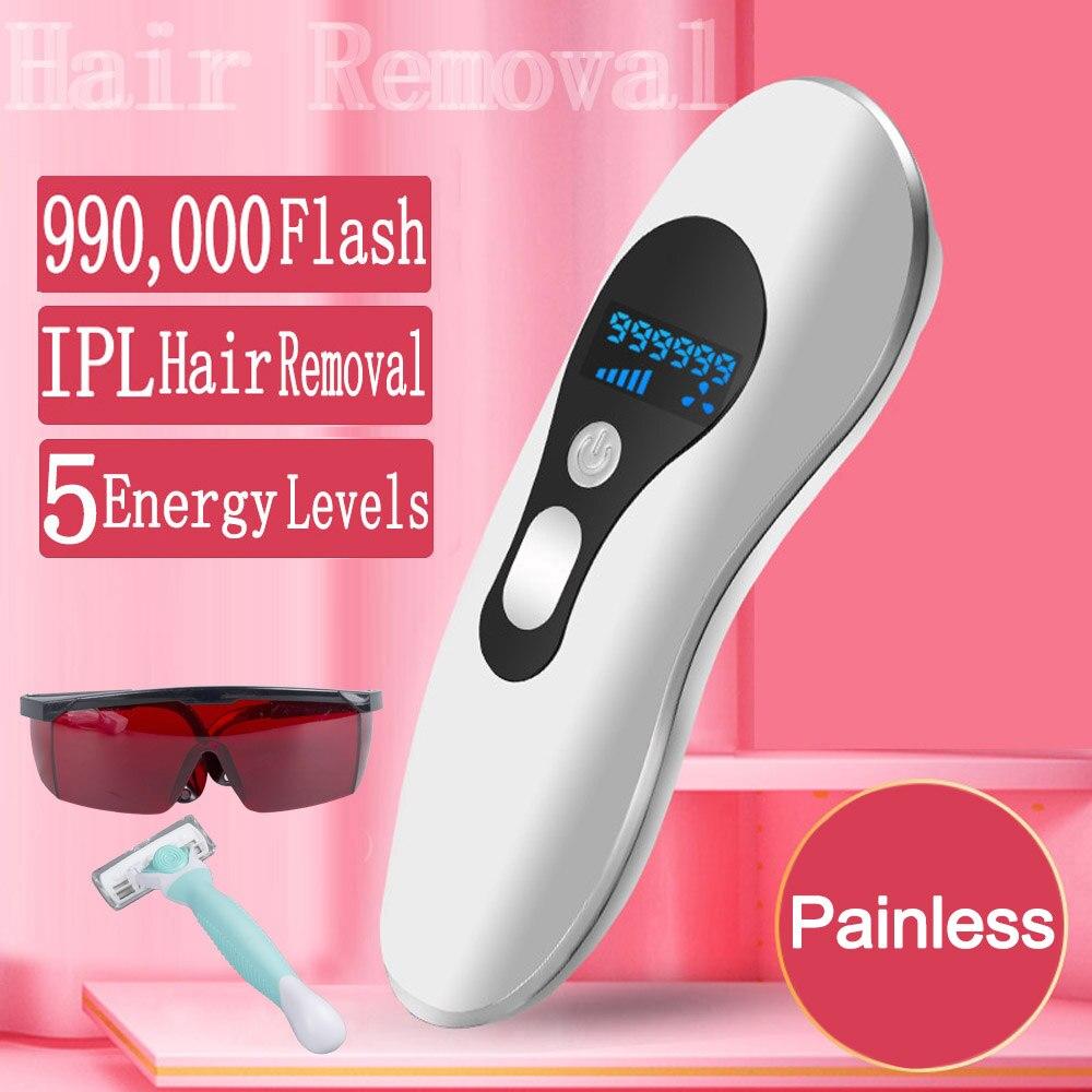 Depiladora a Laser Remoção do Cabelo Depiladora Máquina Flashes Permanente Indolor Corpo Mãos Pés Ferramenta Ipl 999999