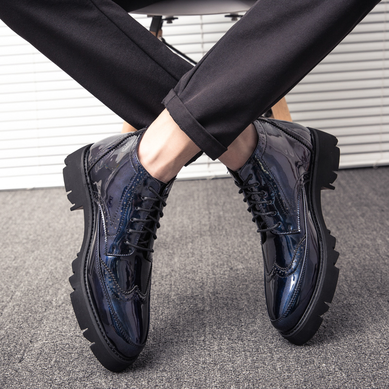 Oxford Shoes for Men Blue Male Formal