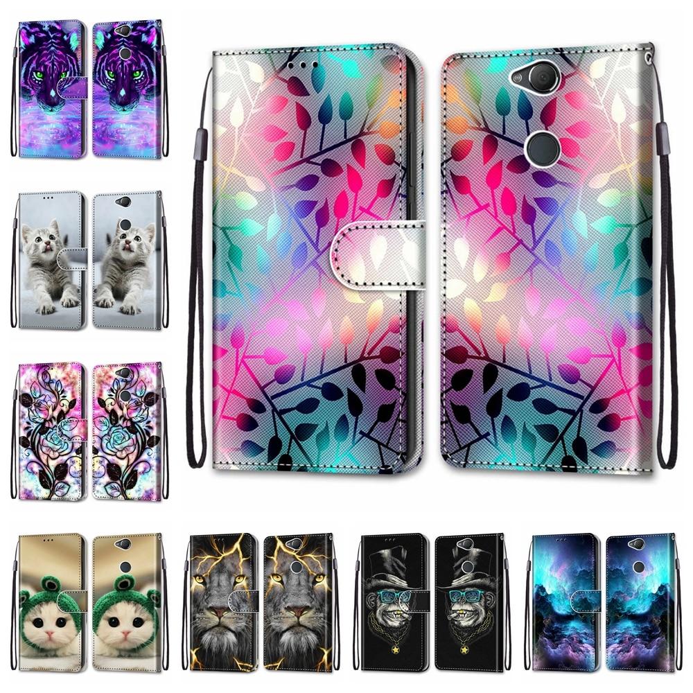 Für Sony Xperia X XA XA2 Fall PU Leder Für Sony Xperia XA1 Plus Abdeckung Tier Gemusterte Für Sony Xperia XA2 Plus Shell Capa