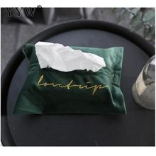 European Style Cloth Tissue Box Napkin Paper Cover Container Tissue Box Cover Paper Dispenser Home Organizer Decor 180x260mm flower print tissue cover