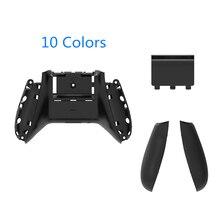 RETROMAX Für Xbox One Schlank Fall Zurück Mit Griffe Und Batterie Abdeckung Für Xbox One Schlank Wireless Controller Zurück Shell 10 farben
