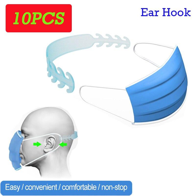 Le Jeune moderne.Santé-10 x Tour d'oreille pour masque chirurgical-Terminé le mal au oreilles lors du port de masque chirurgical. Ce crochet ajustable permet de maintenir le masque sans avoir la désagréable sensation de brulure derrière les oreilles. Vendu par lot de 10 pièces.