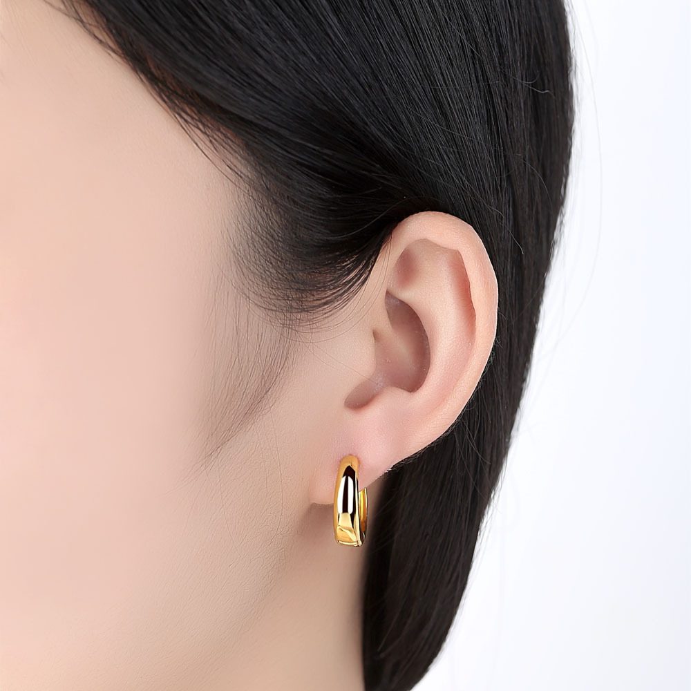 2020 Fashion New Golden Arc Earrings Exquisite Couple Gift with Beautiful You