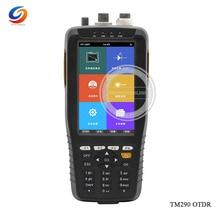 Горячие TM290 Мини Смарт OTDR 1310/1550nm с VFL/OPM/OLS сенсорный экран OTDR оптический рефлектометр времени домена