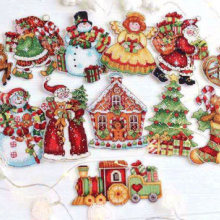 Cross-Stitch-Set Christmas-Tree Handicraft Living-Room Kitchen Cartoon Snowman Refrigerator