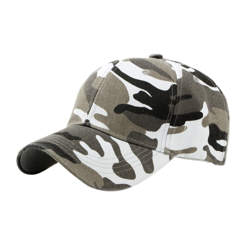 Outdoor Sports Cap Camouflage Cap Cotton Sweatband With Sweat  To Wear More Comfortable 3 Colors  Travel Cap