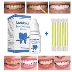 LANBENA Teeth Whitening Powder Oral Hygiene Cleaning Serum Removes Plaque Stains Tooth Bleaching Dental Toothpaste for Smoker