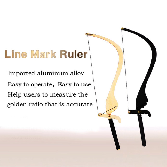 Semi-Permannet Bow and Arrow Line Ruler Microblading Measuring Tool Brow Mapping String Tool Thread Eyebrow Design Beauty Tools 4