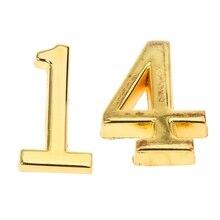 2 шт. домашний практичный золотой дом отель Адрес табличка номер с Srew табличка знак Дом, № 4 и № 1