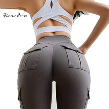 Sport Leggings Yoga Pants Tights Women For Fitness With Pockets Sexy Pants High Waist Workout Gym Scrunch Butt Booty Leggings