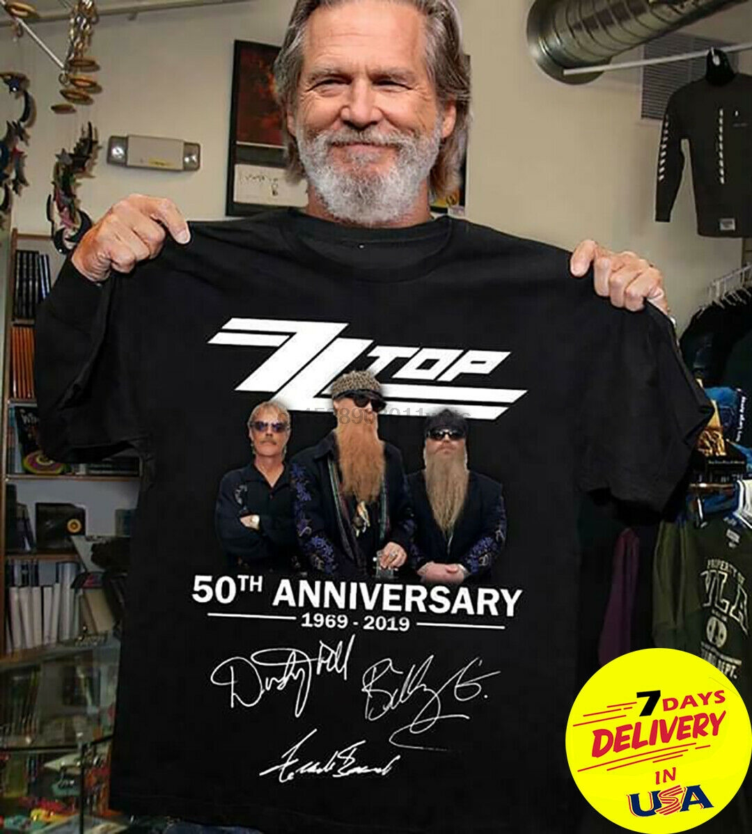 New ZZ Top 50 years Tour live in concert 2019 T Shirt Size S-5XL