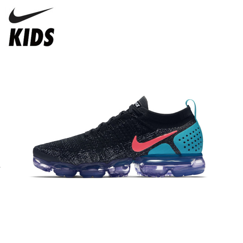 Nike Air Vapormax Flyknit 2 Kids Shoes Original Air Cushion Children Running Shoes Sports Sneakers #942842