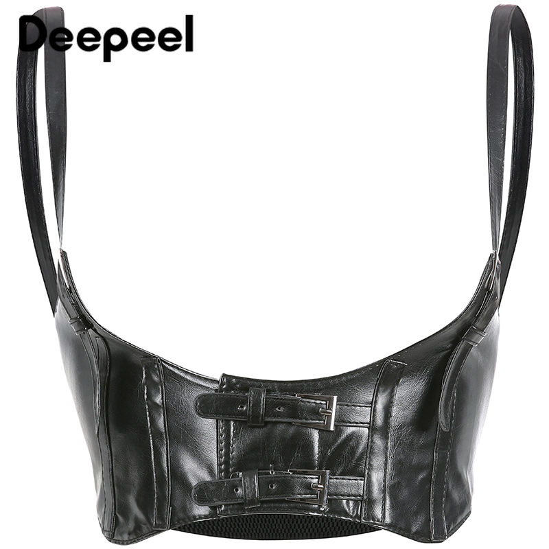 Deepeel 1pc 10cm*74cm Women PU Wide Sling Cummerbunds Leather Craft Accessories Girdle Retro Punk Style Girdle Girls Gift YK731