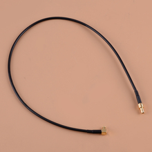 Radia kabel RG174 SMB męski na XCX męski wtyczka Stereo Adapter cyfrowy koncentryczny pasuje do Revo w samochodzie DAB Sonichi S1000-DAB tanie tanio CITALL CN (pochodzenie) Black Gold Plastic Metal approx 42cm(16 5inch) Pin approx 0 35cm(0 14inch) XCX male right angle SMB male pin
