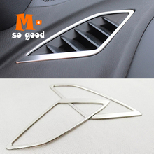 2014 2015 2016 2017 For Mazda 3 Axela M3 Car Front Dashboard Upper Air Vent Outlet Cover Trim Auto Stainless steel Accessories stainless steel upper window frame sill trim 4pcs for mazda 3 axela m3 2014 2015