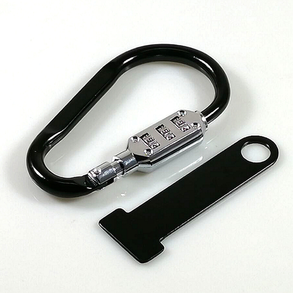 Motorcycle Helmet Combination Code Lock With T-Bar Rubber Anti-theft