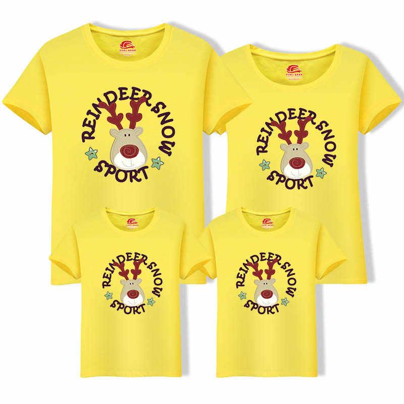 2020 Famiglia Di Natale T-Shirt Famiglia Look Papà e Figlio, La Famiglia di Corrispondenza Vestiti di Abiti Di Natale Cervo T-Shirt per il Papà Mamma Bambini Del Bambino