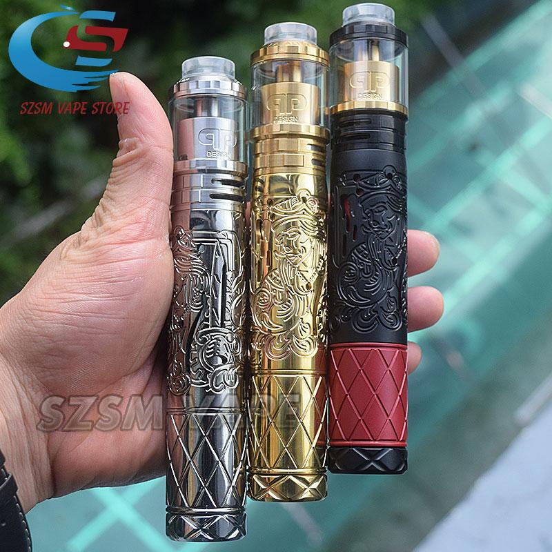 Suicide Queen Mech Mod Kit With Designs Fatality M25 RTA E-cigarette Kit 18650 20700 Battery 25mm Top Vaporizer Vape Mods Kit
