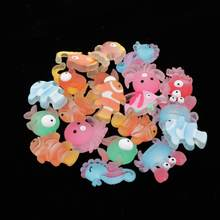 30 Pack Cute Fish Flatback Cabochons Assorted Crafts Charms DIY Hair Bow(China)