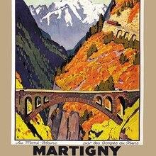 Suiza Wallis turismo Martigny Chatelard Chamonix pinturas clásicas en lienzo pared vintage carteles pegatinas decoración del hogar regalo