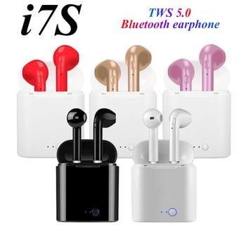 i7s Tws Wireless Headphones Bluetooth Earphones Earbuds Handsfree in ear Sports Headset with Charging Box Mic For iPhone Xiaomi i7s tws wireless earphones bluetooth earphones earbuds handsfree in ear headset with charging box mic for iphone smartphone