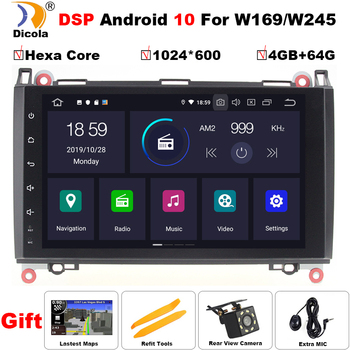 PX6 DSP Android 10 Car DVD Player For Mercedes Sprinter Vito W639 Viano B200/B-class/2006-2014 W245 W169/B170/W209/GPS AutoRadio image