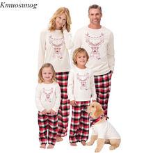 Family Christmas Pajamas Set look Clothes Adult Kids Baby Romper Santa Sleepwear Matching C0564