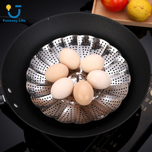 Steamer Rack Kitchen-Tools Food-Basket Dish-Food Vegetable Stainless-Steel Mesh Fruit