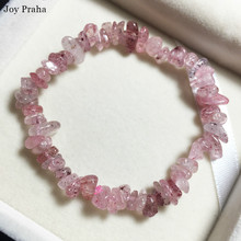 Natural strawberry crystal bracelet / Women pink wholesale dropshipping
