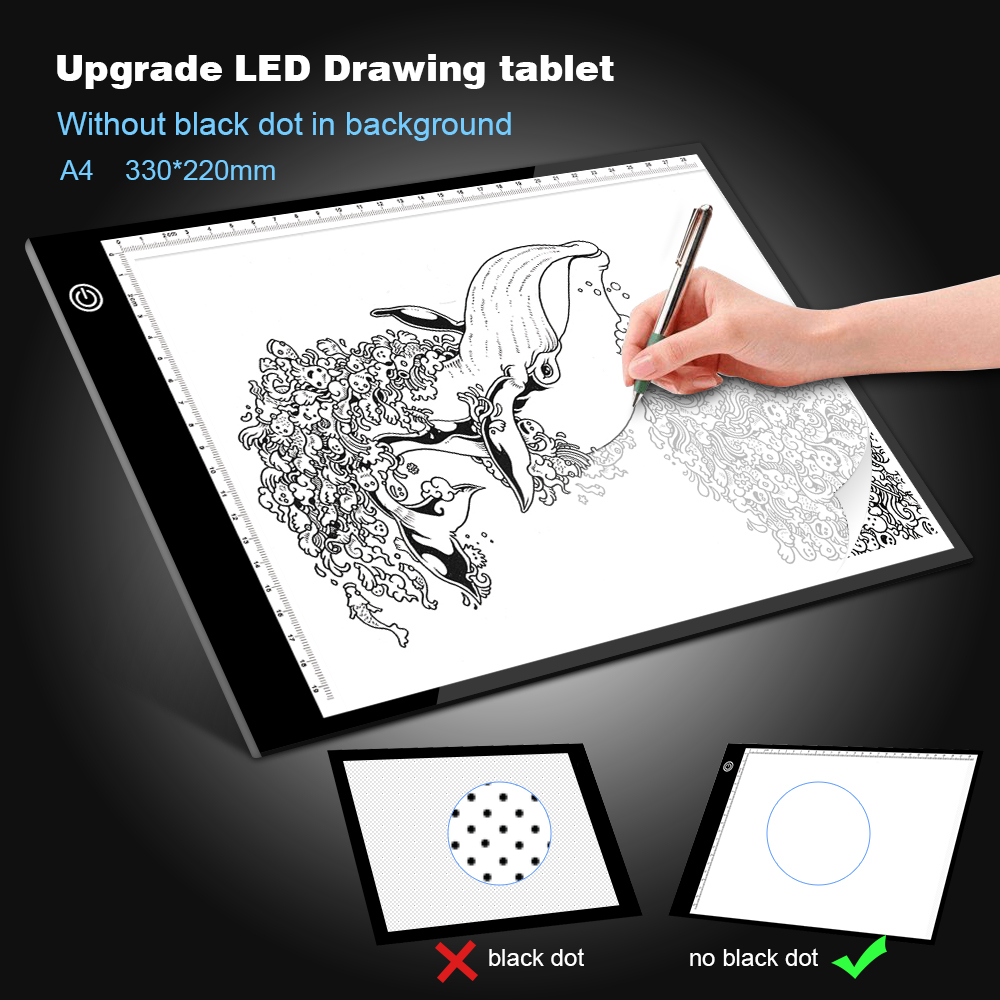 Upgrade Drawing Tablet LED Light Box A4 Graphic Writing Digital Tracer Copy Pad Board For Diamond Painting Sketch