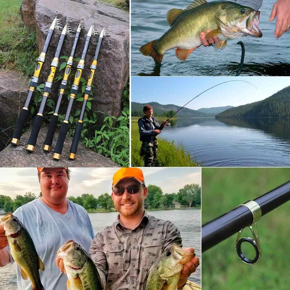 Sougayilang 2.1M-3.6 mspin canne à pêche en Fiber de carbone 99% truite carpe télescopique canne à pêche leurre canne à pêche matériel