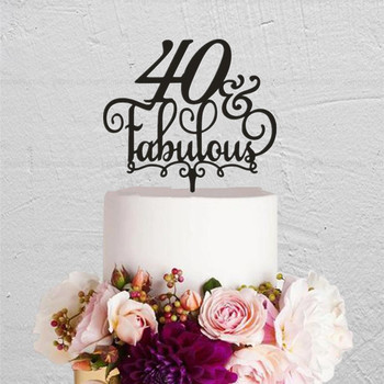 Wondrous 40 Fabulous Birthday Cake Topper 40Th Birthday Cake Topper T Funny Birthday Cards Online Alyptdamsfinfo