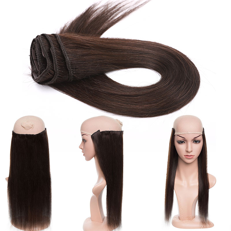 "SEGO 75-120G 10""-24"" 8Pcs Set Clips In Human Hair Extensions 100% Real Machine Remy Silky Straight Brazilian Hair Blonde Clip in"