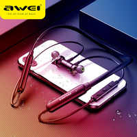 AWEI G20BLS Bluetooth Earphone Wireless Headphones With Mic Dual Driver 14H Playback Stereo Neckband Headset For iPhone Xiaomi