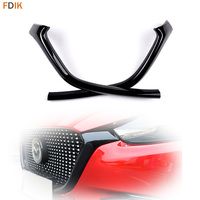 Racing Glossy Black Front Center Bumper Grill Grille Side Molding Trim Cover for Mazda 3 Axela M3 2014 2015 2016 2017 2018