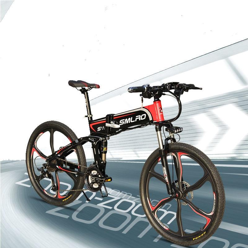 "S11YTL Steadfast e bike26"" Folding Electric Bicycle 48V 10AH 350W  E MTB Foldable ELectric Bike 3"