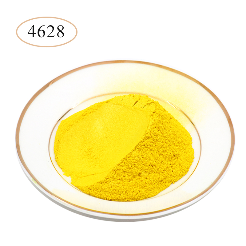 Yellow Pearl Powder Pigments Mineral Mica Powder Dye For Car Soap Automotive Nail Polish Arts Crafts Mica Pearl Powder 10g/50g