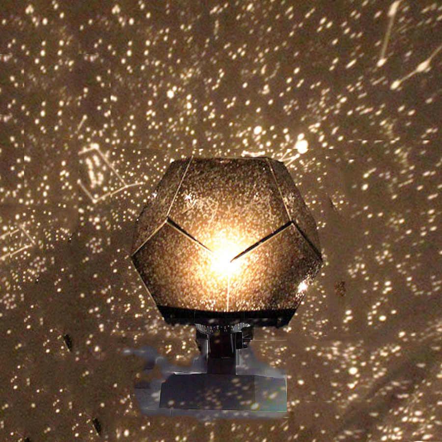 로맨틱 천문관 스타 프로젝터 야간 조명 LED 프로젝션 램프 홈 천문관 장식 어린이 침실 선물 DIY 라이트