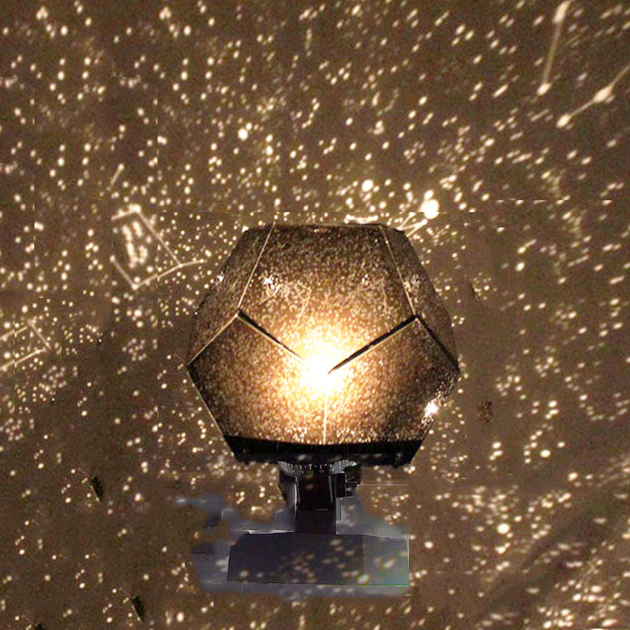LED Projection Star Projector Lamp Romantic Planetarium Star Projector Cosmos Light Night Sky Lamp Kids Bedroom Decoration