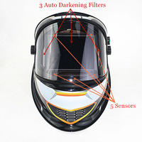 Auto Darkening Welding Helmet View Size 98x88mm DIN 4 14 5 Sensors EN379 Welding Mask