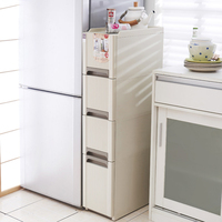 Bathroom Refrigerator Side Cabinet Living Room Storage Cabinet Slot Cabinet Kitchen Slot Storage Cabinet Drawer