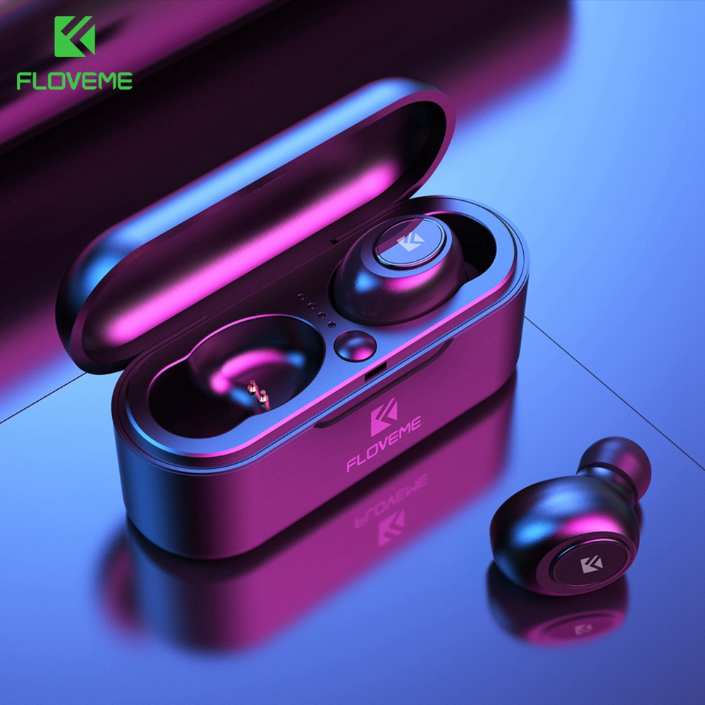 FLOVEME TWS 5.0 Bluetooth Earphone For IPhone Samsung Xiaomi Headset Earphone 3D Stereo Wireless Headphones With Dual Microphone