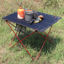 Portable Foldable Table Camping Outdoor Furniture Computer Bed Tables Picnic 6061 Aluminium Alloy Ultra Light Folding Desk cheap Lighten Up Metal Aluminum Minimalist Modern Assembly Rectangle 56 * 43 * 37cm 22 05 * 16 93 * 14 57in Outdoor Table Fabric