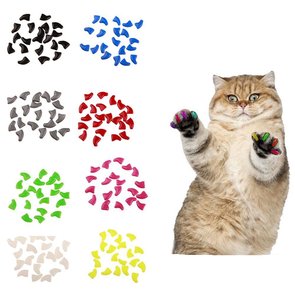 20 шт., силиконовый чехол для кошек и собак, против царапин